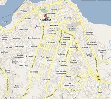 kinshasa map images reverse search